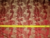 STROHEIM NEOCLASSICAL EMPIRE ACANTHUS TASSELS STRIE SILK DAMASK FABRIC RUBY RED / GOLD 10 YARDS