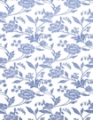 STROHEIM  EVI�S DREAM EMBROIDERED SILK LINEN FABRIC BLUE