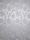 STROHEIM GREER POLY SILK DAMASK FABRIC CRISP WHITE