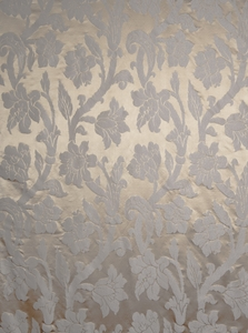 STROHEIM GREER POLY SILK DAMASK  FABRIC MAPLE SYRUP