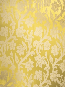 STROHEIM GREER POLY SILK DAMASK  FABRIC MARGARITA