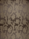 STROHEIM GREER POLY SILK DAMASK  FABRIC RICH CHOCOLATE