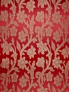 STROHEIM GREER POLY SILK DAMASK  FABRIC SCARLETT