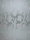 STROHEIM GREER POLY SILK DAMASK  FABRIC SISTINE SKY