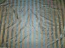 STROHEIM & ROMANN SUMTER SILK SATIN STRIPE FABRIC PACIFIC BLUE BRONZE