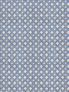 STROHEIM & ROMANN AMIRY ABSTRACT PRINT LINEN FABRIC ULTRAMARINE