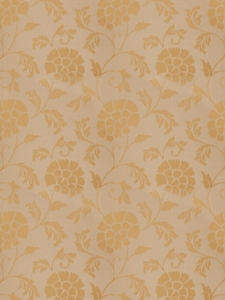 STROHEIM & ROMANN ASQUITH TRAIL SILK WOVEN FLORAL FABRIC GOLD LEAF
