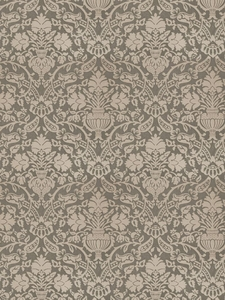 STROHEIM & ROMANN BARING DAMASK SILK FABRIC SEASIDE