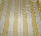 STROHEIM & ROMANN BONITA STRIPES SILK TAFFETA FABRIC GOLD CREAM