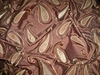 "STROHEIM & ROMANN  ""BRICE"" PAISLELY SUEDE EMROIDERED SILK FABRIC BROWN"