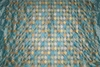 STROHEIM & ROMANN DIAMONTE DIAMONDS HARLEQUIN  EMBROIDERED SILK FABRIC 16 YARD BOLT AQUA