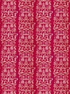STROHEIM & ROMANN FOLLY ETHNIC CHINOISERIE LINEN FABRIC FUCHSIA