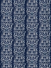 STROHEIM & ROMANN FOLLY ETHNIC CHINOSERIE LINEN FABRIC NAVY