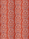 STROHEIM & ROMANN FOLLY ETHNIC CHINOSERIE LINEN FABRIC PERSIMMON