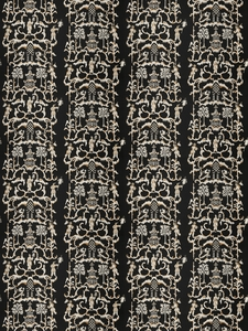 STROHEIM & ROMANN FOLLY ETHNIC CHINOSERIE LINEN FABRIC PITCH