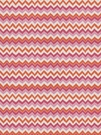 STROHEIM & ROMANN GILDA CHEVRON PRINT FABRIC PINK ORANGE