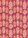 STROHEIM & ROMANN GRETCHEN ETHNIC PRINT COTTON FABRIC PINK ORANGE
