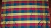 STROHEIM & ROMANN IRIDESCENT BERMUDA SILK CHECK FABRIC 10.5 YARDS JEWEL MULTI