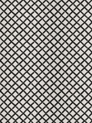 STROHEIM & ROMANN KENT FRETWORK PRINT COTTON FABRIC BLACK WHITE
