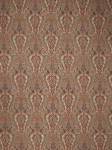 STROHEIM & ROMANN LIDDA PAISLEY PRINT LINEN FABRIC WINTER RED