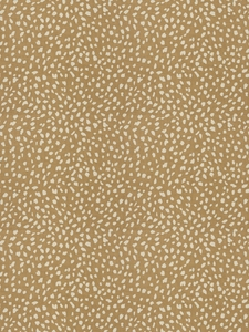 STROHEIM & ROMANN LITTLE DITTY ANIMAL PRINT LINEN FABRIC CAMEL