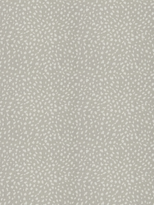 STROHEIM & ROMANN LITTLE DITTY ANIMAL PRINT LINEN FABRIC GREY