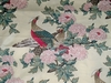STROHEIM & ROMANN PHEASANT BIRDS TOILE CHINTZ FABRIC 10 YARDS