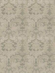 STROHEIM & ROMANN PIERREPONT DAMASK SILK FABRIC WATER TONE