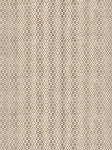 STROHEIM & ROMANN RADLEY ABSTRACT DIAMOND COTTON FABRIC WHEAT
