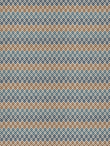 STROHEIM & ROMANN RISHA ABSTRACT SCROLLWORK FABRIC BLUE SPRUCE