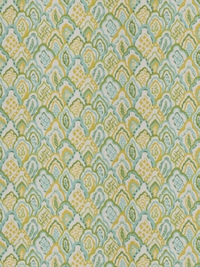 STROHEIM & ROMANN TAJ BARGELLO COTTON FABRIC LEMON