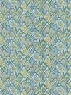 STROHEIM & ROMANN TAJ BARGELLO COTTON FABRIC PEACOCK