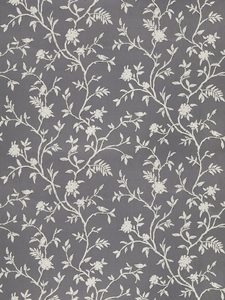 STROHEIM & ROMANN TIVERTON ETHNIC COTTON FABRIC SLATE