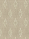 STROHEIM & ROMANN TREMOLO SILK EMBROIDERED FABRIC SAND