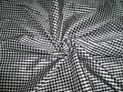 TAPESTRIA FRENCH COUNTRY GINGHAM CHECK SILK FABRIC BLACK WHITE 30 YARD BOLT