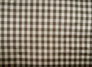 TAPESTRIA FRENCH COUNTRY GINGHAM CHECK SILK FABRIC BROWN CREAM 30 YARD BOLT
