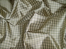 TAPESTRIA FRENCH COUNTRY GINGHAM CHECK SILK FABRIC CELADON MINT CREAM 30 YARD BOLT