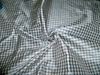 TAPESTRIA FRENCH COUNTRY GINGHAM CHECK SILK FABRIC CHAMBRAY BLUE