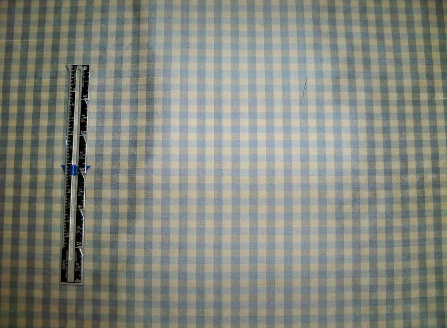 Tapestria french country gingham check silk fabric french for Gingham fabric