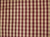 TAPESTRIA FRENCH COUNTRY GINGHAM CHECK SILK FABRIC GARNET CREAM 30 YARD BOLT
