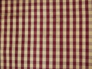 TAPESTRIA FRENCH COUNTRY GINGHAM CHECK SILK FABRIC GARNET CREAM