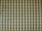 TAPESTRIA FRENCH COUNTRY GINGHAM CHECK SILK FABRIC SAGE CREAM 30 YARD BOLT
