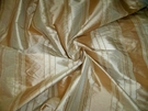 "TAPESTRIA ""MONTEL"" STRIPES SILK FABRIC GOLD BEIGE"