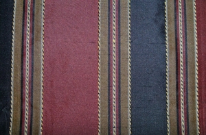 "TAPESTRIA ""MONTEL"" STRIPES SILK FABRIC BLACK BURGUNDY"