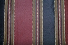 "TAPESTRIA ""MONTEL"" STRIPES SILK FABRIC BLACK BURGUNDY 30 YARD BOLT"