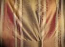 "TAPESTRIA ""MONTEL"" STRIPES SILK FABRIC GODIVA / CINNAMON 30 YARD BOLT"