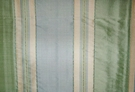 "TAPESTRIA ""MONTEL"" STRIPES SILK FABRIC SPA BLUE MINT CREAM 30 YARD BOLT"