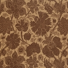 VERVAIN AIDA PRINTED FLORAL FABRIC COCOA