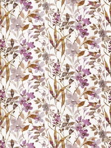 VERVAIN AMILIANA LINEN FLORAL FABRIC ORCHID