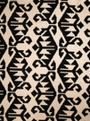 VERVAIN CARPET EMBROIDERED LINEN FABRIC COAL